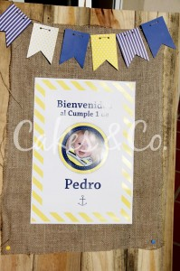 Yellow and Blue Nautical 1st Birthday Party via Kara's Party Ideas | Kara'sPartyIdeas.com #Sailboat #Sailor #PartyIdeas #Supplies (2)
