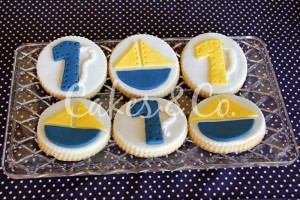 Yellow and Blue Nautical 1st Birthday Party via Kara's Party Ideas | Kara'sPartyIdeas.com #Sailboat #Sailor #PartyIdeas #Supplies (30)