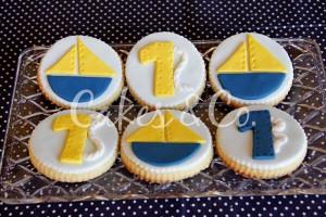 Yellow and Blue Nautical 1st Birthday Party via Kara's Party Ideas | Kara'sPartyIdeas.com #Sailboat #Sailor #PartyIdeas #Supplies (28)