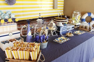 Yellow and Blue Nautical 1st Birthday Party via Kara's Party Ideas | Kara'sPartyIdeas.com #Sailboat #Sailor #PartyIdeas #Supplies (26)