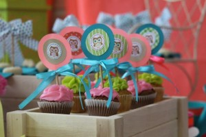 Girly Owl Party via Kara's Party Ideas | Kara'sPartyIdeas.com #Girl #Owl #Woodland #PartyIdeas #Supplies (13)