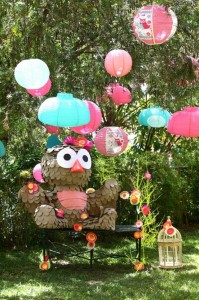 Girly Owl Party via Kara's Party Ideas | Kara'sPartyIdeas.com #Girl #Owl #Woodland #PartyIdeas #Supplies (5)