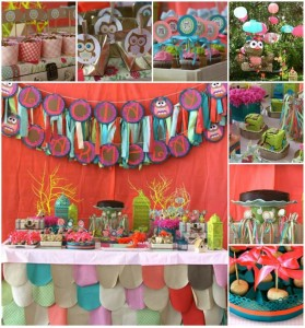 Girly Owl Party with Lots of AWESOME Ideas via Kara's Party Ideas | Kara'sPartyIdeas.com #Girl #Owl #Woodland #PartyIdeas #Supplies (1)