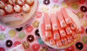 Pink Baby Sprinkle via Kara's Party Ideas Kara'sPartyIdeas.com #BabyShower #Girly #PartyIdeas #Supplies (17)