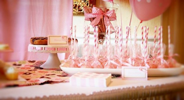 Pink Baby Sprinkle via Kara's Party Ideas Kara'sPartyIdeas.com #BabyShower #Girly #PartyIdeas #Supplies (8)
