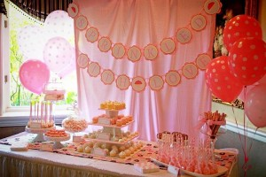 Pink Baby Sprinkle via Kara's Party Ideas Kara'sPartyIdeas.com #BabyShower #Girly #PartyIdeas #Supplies (16)