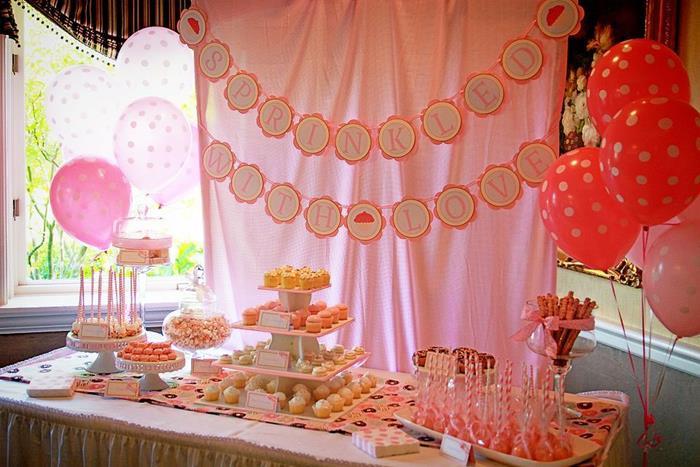 kara 39 s party ideas pink baby sprinkle via kara 39 s party. Black Bedroom Furniture Sets. Home Design Ideas
