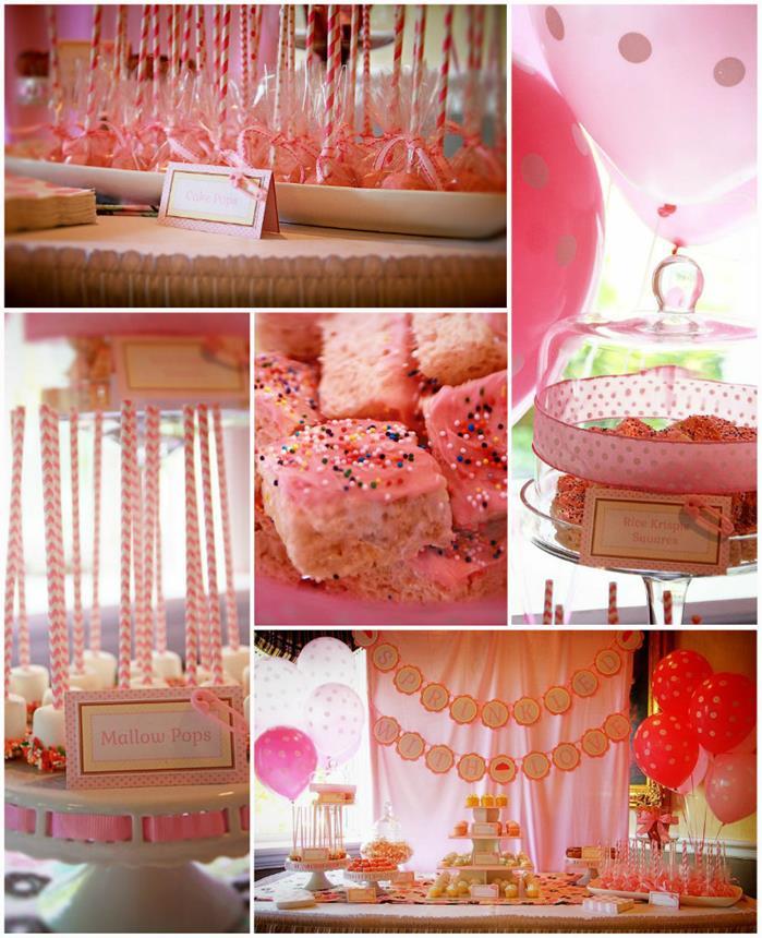 Pink Baby Sprinkle With Really CUTE Ideas Via Karas Party KarasPartyIdeas