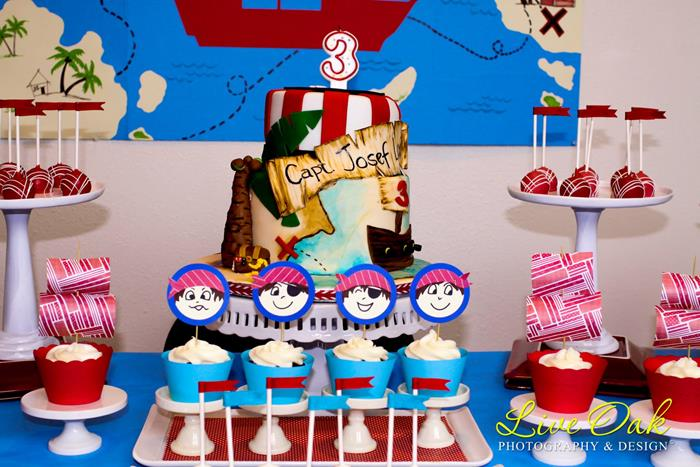 Pirate Birthday Party Via Kara S Ideas Spartyideas Piratepartyideas