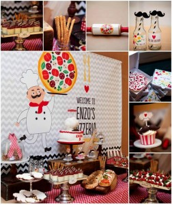 Pizza Themed Birthday Party with REALLY CUTE IDEAS via Kara's Party Ideas Kara'sPartyIdeas.com #PizzaParty #Ideas #Supplies #Baking #Chef (1)