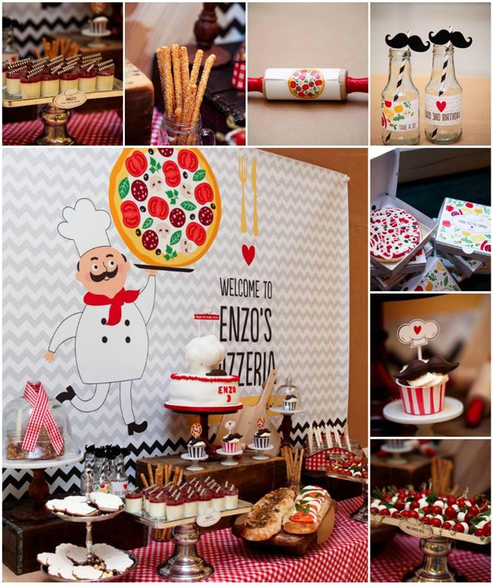 Kara's Party Ideas Pizza Themed Birthday Party Full Of