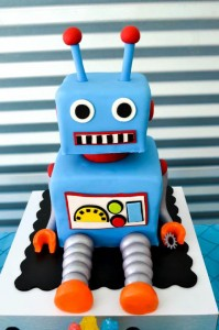 Robot Party via Kara's Party Ideas | Kara'sPartyIdeas.com #Robot #Science #Ideas #Supplies #Cake (24)