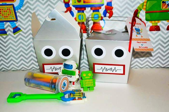 Robot Birthday Decorations: Kara's Party Ideas Robot Party Via Kara's Party Ideas