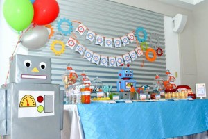 Robot Party via Kara's Party Ideas | Kara'sPartyIdeas.com #Robot #Science #Ideas #Supplies #Cake (20)