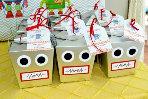 Robot Party via Kara's Party Ideas | Kara'sPartyIdeas.com #Robot #Science #Ideas #Supplies #Cake (16)