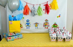 Robot Party via Kara's Party Ideas | Kara'sPartyIdeas.com #Robot #Science #Ideas #Supplies #Cake (14)
