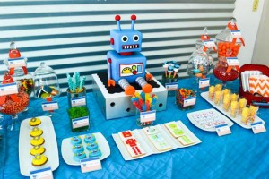Robot Party via Kara's Party Ideas | Kara'sPartyIdeas.com #Robot #Science #Ideas #Supplies #Cake (4)