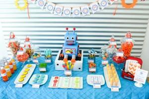 Robot Party via Kara's Party Ideas | Kara'sPartyIdeas.com #Robot #Science #Ideas #Supplies #Cake (3)