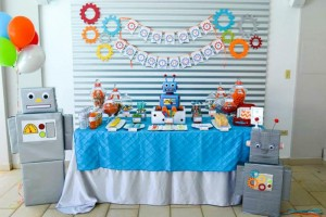 Robot Party via Kara's Party Ideas | Kara'sPartyIdeas.com #Robot #Science #Ideas #Supplies #Cake (35)
