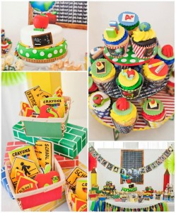 Back To School Party with LOTS of Cute IDEAS via Kara's Party Ideas Kara'sPartyIdeas.com #School #Party #Ideas #ReadAThon #Supplies (1)