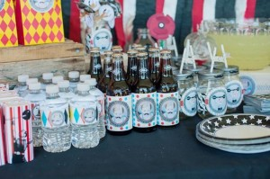 Vintage Circus Strongman Birthday Party via Kara's Party Ideas | Kara'sPartyIdeas.com #BigTop #Carnival #2ndBirthday #PartyIdeas #Supplies (31)