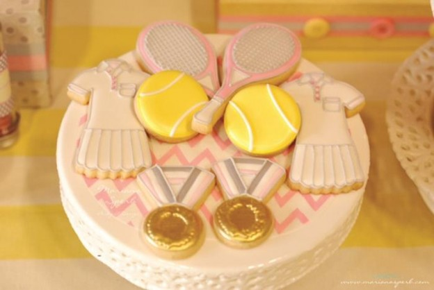 Tennis Birthday Party via Kara's Party Ideas Kara'sPartyIdeas.com #Sports #Tennis #Ideas #Supplies (8)