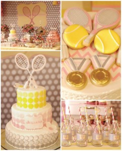 Tennis Birthday Party Full of CUTE Ideas via Kara's Party Ideas Kara'sPartyIdeas.com #Sports #Tennis #Ideas #Supplies (1)