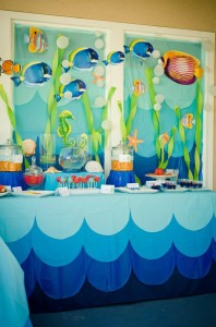 Under the Sea Water Party via Kara's Party Ideas Kara'sPartyIdeas.com #SeaCreatures #PartyIdeas #Supplies #Ocean #WaterFight #SummerPartyIdea (13)