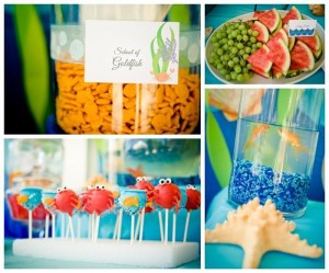 Under the Sea Water Party via Kara's Party Ideas Kara'sPartyIdeas.com #SeaCreatures #PartyIdeas #Supplies #Ocean #WaterFight #SummerPartyIdea (10)
