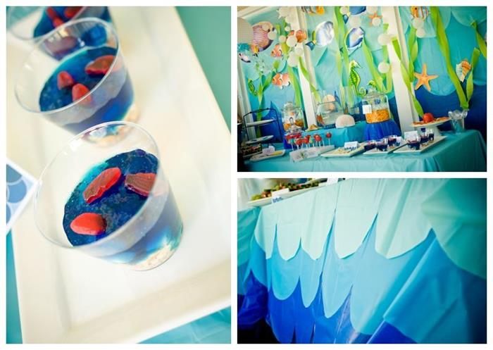 Kara 39 s party ideas under the sea water party via kara s for Water decoration ideas