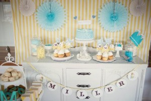 Vintage Yellow and Blue Birthday Party via Kara's Party Ideas Kara'sPartyIdeas.com #VintagePartyIdeas #Supplies #Boy #1stBirthdayParty (14)