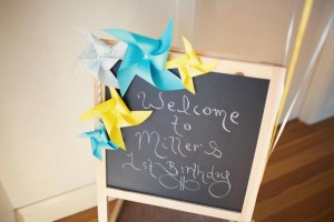 Vintage Yellow and Blue Birthday Party via Kara's Party Ideas Kara'sPartyIdeas.com #VintagePartyIdeas #Supplies #Boy #1stBirthdayParty (7)