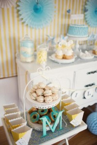Vintage Yellow and Blue Birthday Party via Kara's Party Ideas Kara'sPartyIdeas.com #VintagePartyIdeas #Supplies #Boy #1stBirthdayParty (20)