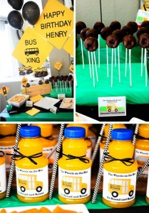 Wheels on the Bus Party with Lots of GREAT IDEAS via Kara's Party Ideas Kara'sPartyIdeas.com #BackToSchool #Teacher #SchoolBus #Party #Ideas #Supplies (1)