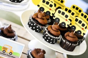 Wheels on the Bus Party with Lots of GREAT IDEAS via Kara's Party Ideas Kara'sPartyIdeas.com #BackToSchool #Teacher #SchoolBus #Party #Ideas #Supplies (4)