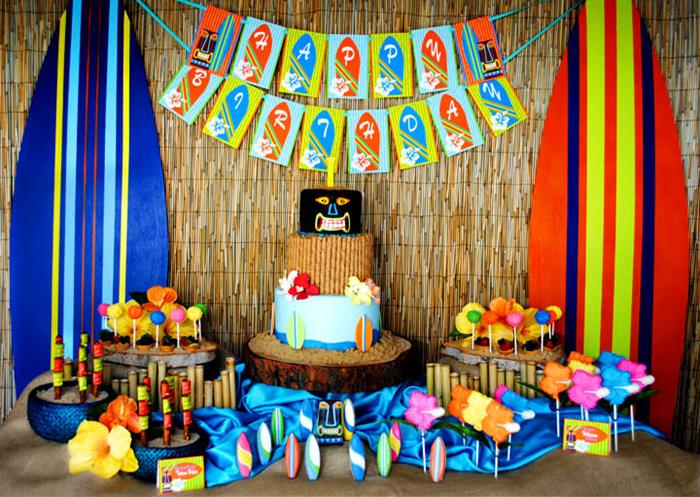 5 Ideas For A Great Beach Themed Wedding In Puglia: Kara's Party Ideas Tiki Luau Summer Beach Swim Party