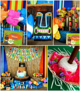Tiki Luau Party with SO MANY Ideas via KarasPartyIdeas.com #Luau #PartyIdeas #BeachParty #PartySupplies