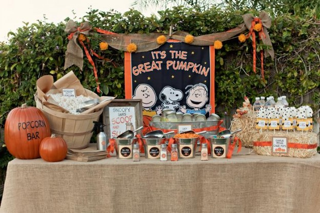 Charlie Brown Great Pumpkin Party with TONS of Ideas via KarasPartyIdeas.com #CharlieBrown #GreatPumpkin #Fall #PartyIdeas #PumpkinParty #PartySupplies (8)