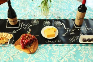 """Scribble Linens"" Reversible Chalkboard Tablecloths via Kara's Party Ideas #ScribbleLinens #Chalkboard #ChalkboardTable #Tablecloth #RemovableChalkboard (16)"