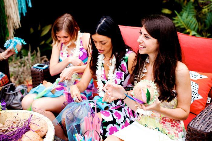 Hawaiian Bridal Shower Hawaiian Luau Bridal Shower Wreath Styrofoam Wreath And Drink Umbrellas