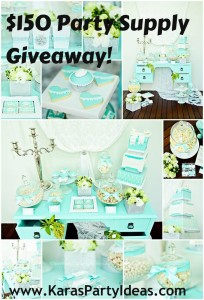 Little Dance $150 Party Supply Giveaway via KarasPartyIdeas.com #BreakfastAtTiffanys #Giveaway #PartySupplies #PartyDecorations #TiffanysParty