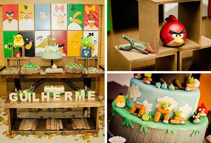 Kara 39 s party ideas angry birds 3rd birthday party with for Angry bird birthday decoration ideas