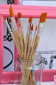 Girly Art Party With So Many Cute Ideas via Kara's Party Ideas | KarasPartyIdeas.com #Artist #Painting #Bright #Party #Ideas #Supplies (11)