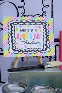 Girly Art Party With So Many Cute Ideas via Kara's Party Ideas | KarasPartyIdeas.com #Artist #Painting #Bright #Party #Ideas #Supplies (3)