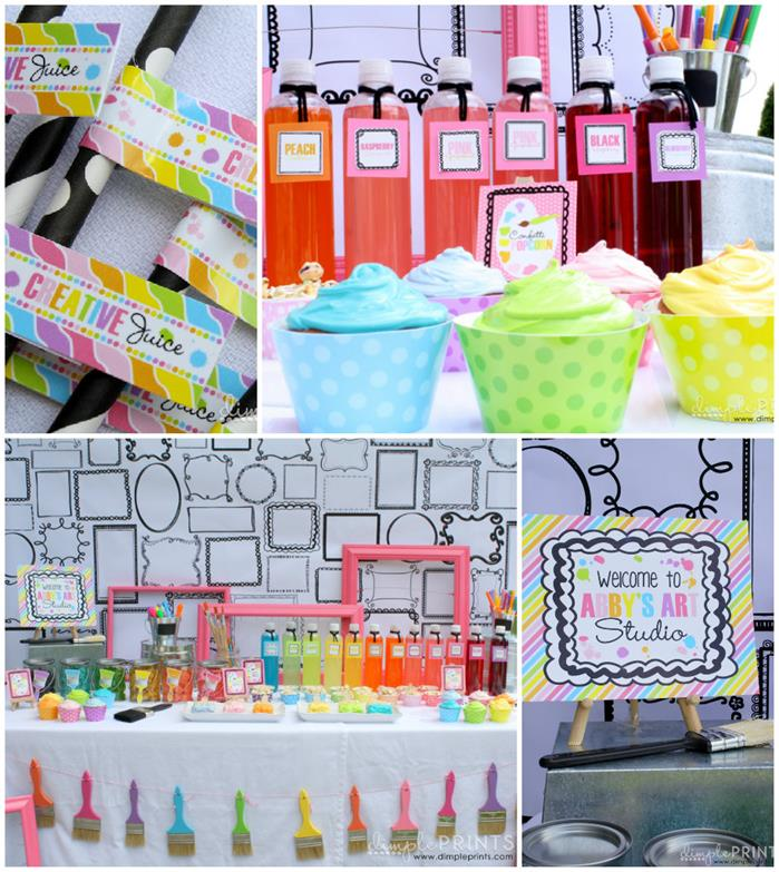 Kara 39 s party ideas girly art party full of awesome ideas for Art deco party decoration ideas