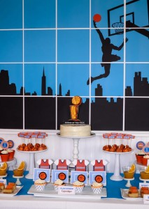 Basketball Themed 1st Birthday Party with Really Cool Ideas via Kara's Party Ideas | Kara'sPartyIdeas.com #Sports #NBA #Boy #Party #Ideas #Supplies (15)