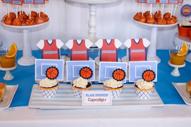 Basketball Themed 1st Birthday Party with Really Cool Ideas via Kara's Party Ideas | Kara'sPartyIdeas.com #Sports #NBA #Boy #Party #Ideas #Supplies (11)