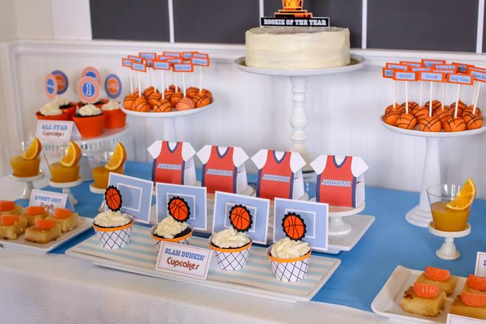 Karas Party Ideas Basketball Themed 1st Birthday Party with