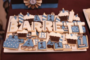 Blue and Brown Boy's 1st Birthday Party with Lots of Cute Ideas via Kara's Party Ideas KarasPartyIdeas.com #Boy #Party #Ideas #Supplies (7)