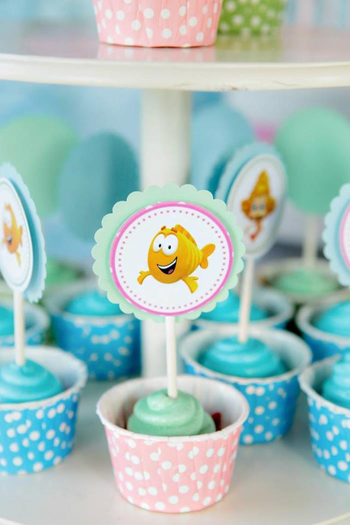 Kara 39 s party ideas bubble guppies under the sea party with lots of cute ideas via kara 39 s party - Bubble guppie birthday ideas ...